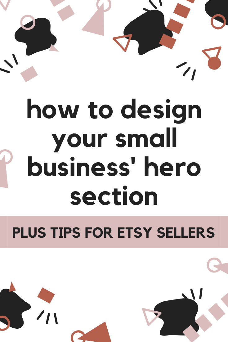 How to design your small business hero section