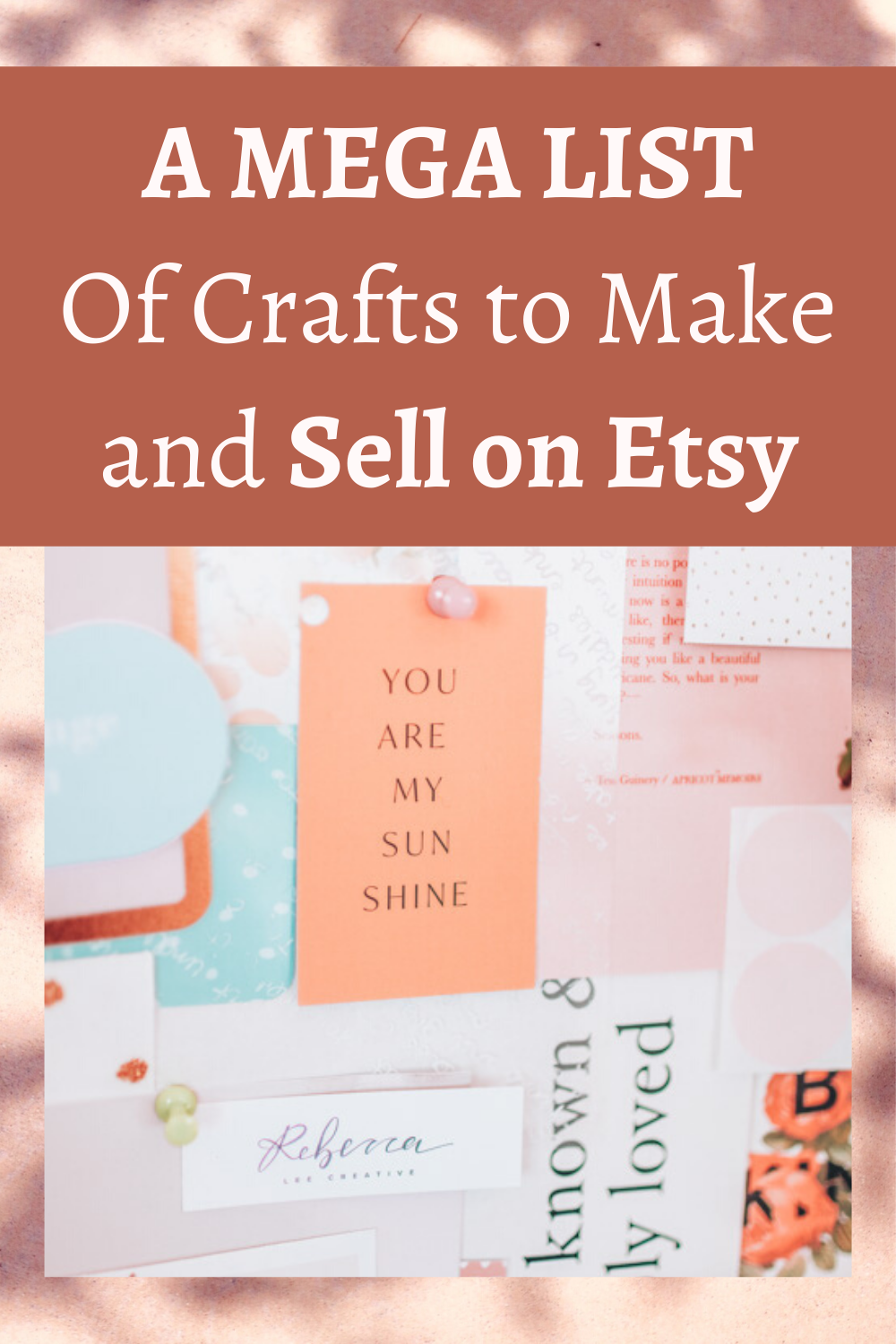 A mega list of crafts to make and sell on Etsy