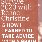 Learning to Survive 2020 with Renae Christine's YouTube Orbit And How I Learned to Take Advice with a Grain of Salt